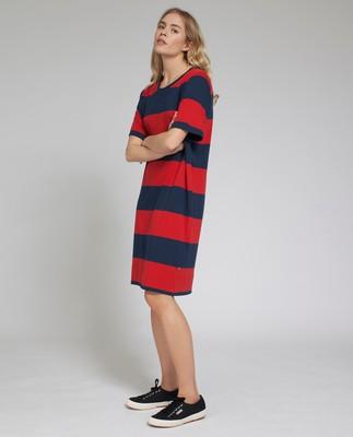 Lali Jersey Dress, Blue/Red
