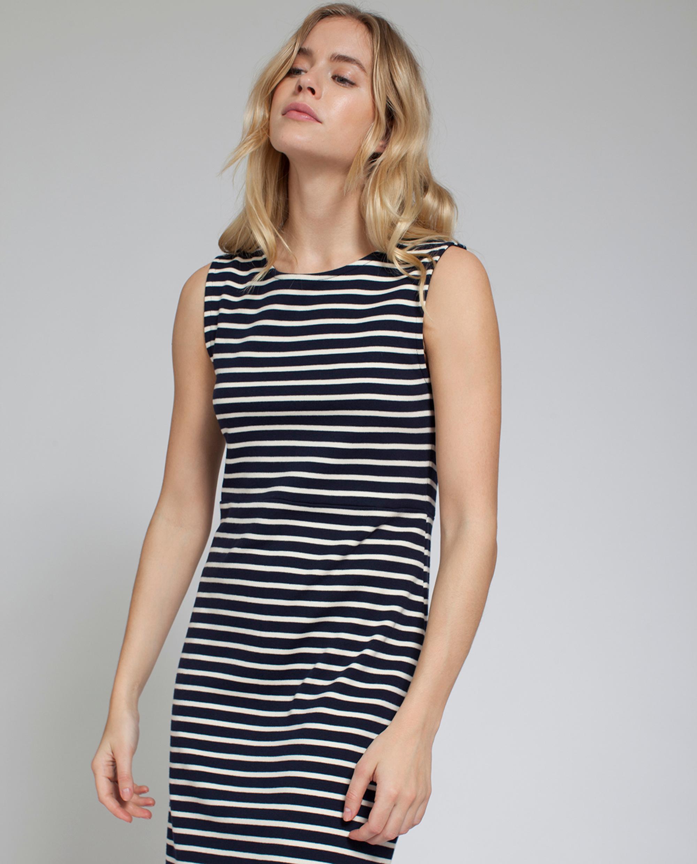 Nellie Tubular Dress, Blue/White