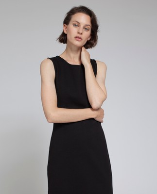 Nellie Tubular Dress, Caviar Black
