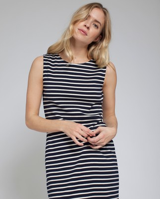 Nellie Tubular Dress, Blue/White