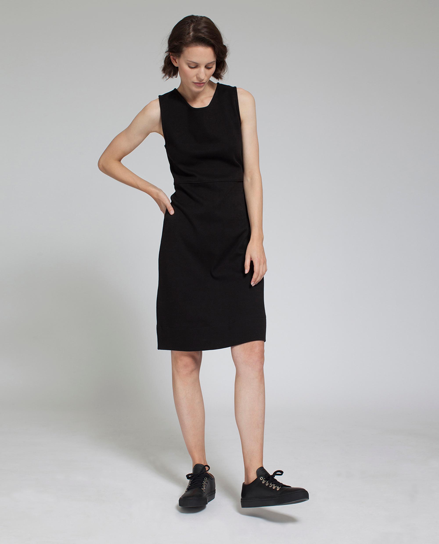 Nellie Tubular Dress, Caviar Black