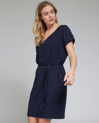 Kristina Solid Dress, Deepest Blue