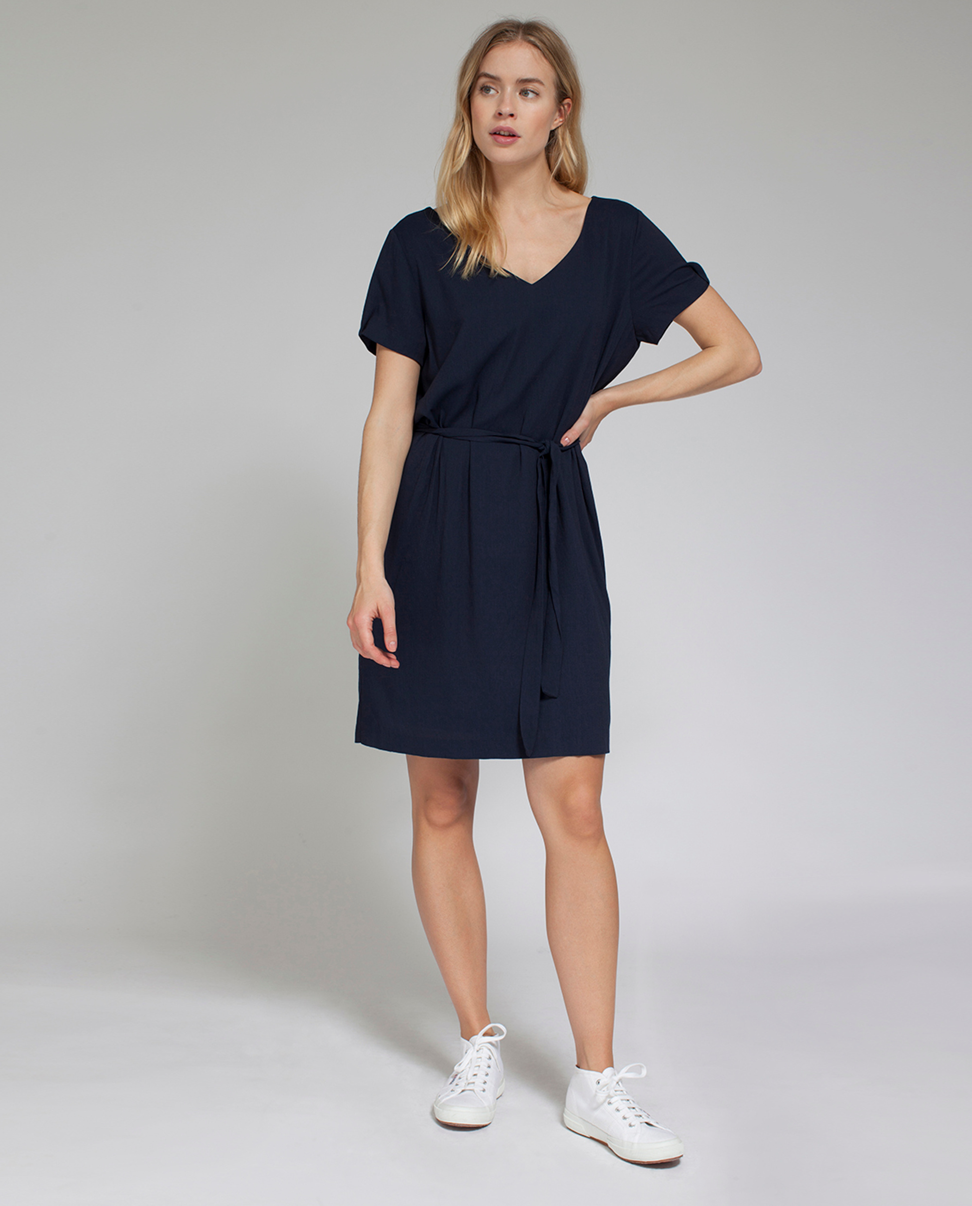 Kristina Solid Dress, Deepest Blue