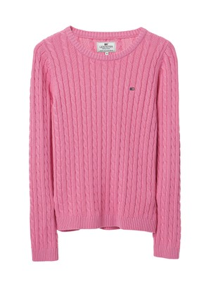 Felizia Cable Sweater, Chateau Rose