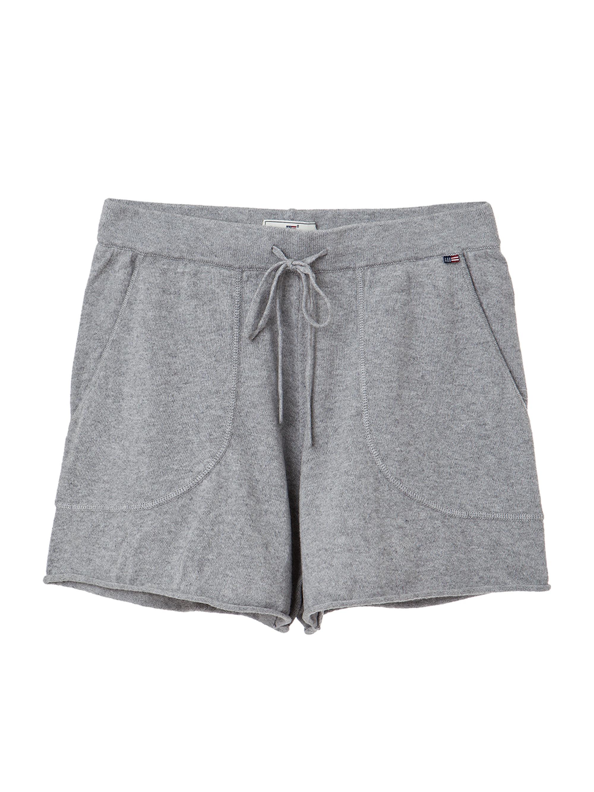 Sabine Knit Shorts, Light Warm Gray