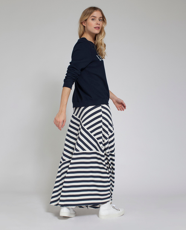 Joelle Jersey Skirt, Blue/White