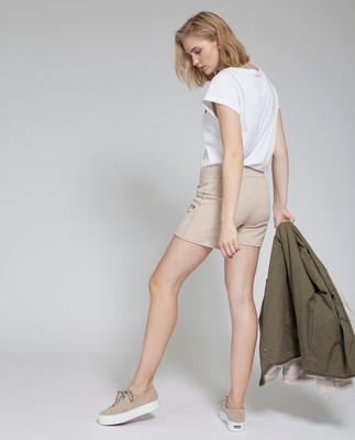 Naomi Shorts, Feather Gray