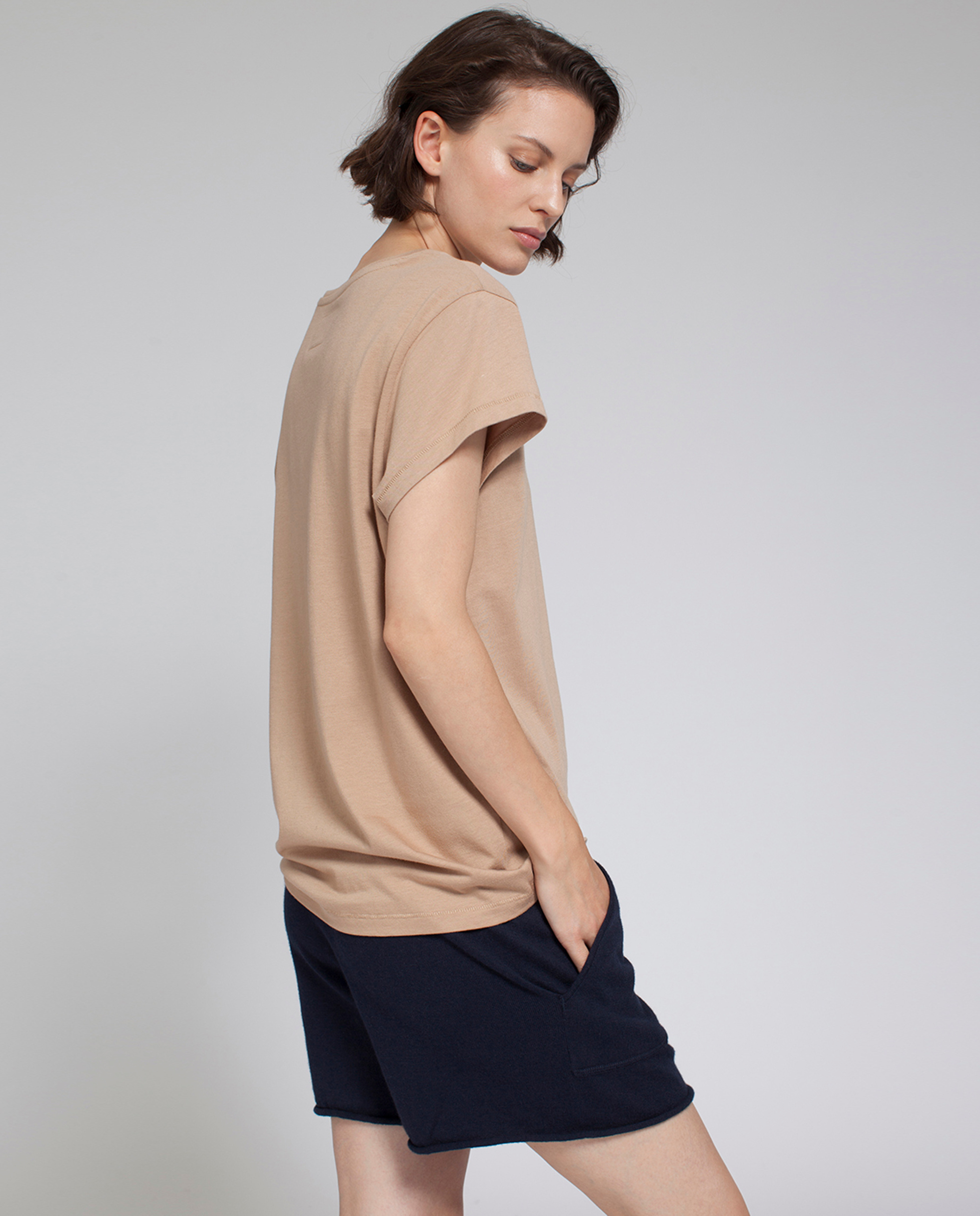 Ashley Jersey Tee, Camel