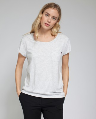 Ashley Jersey Tee, Light Warm Gray