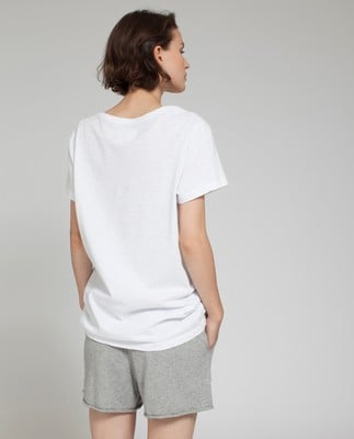 Alina V-neck Tee, Bright White