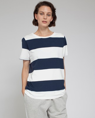 Rachel Striped Tee, Blue/White