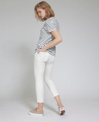 Rachel Striped Tee, Stripe with Print