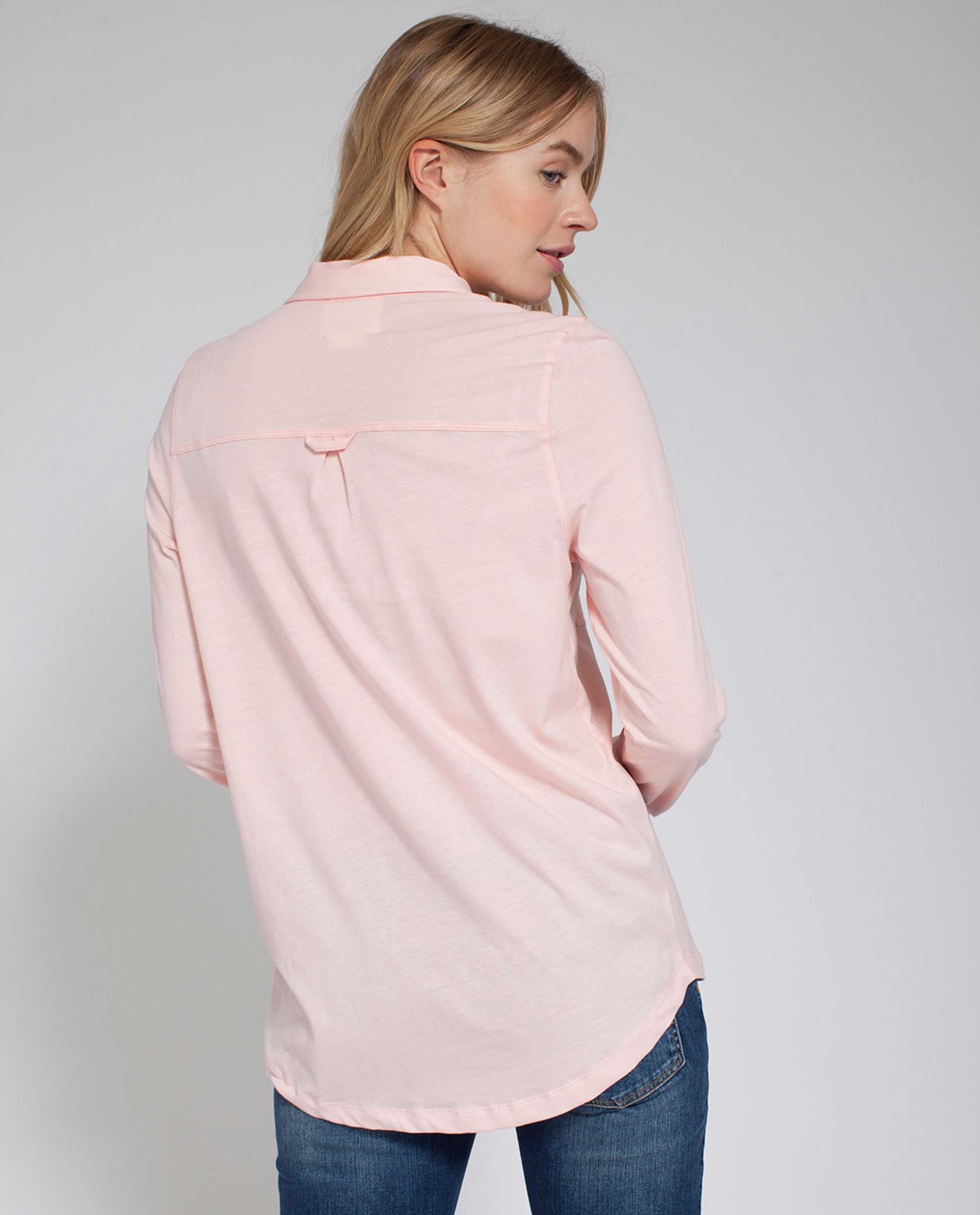 Olivia Jersey Shirt, English Rose Pink