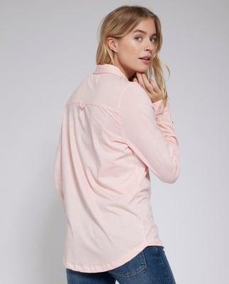 Olivia Jersey Shirt, English Rose Pink