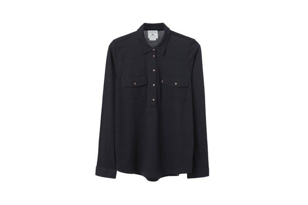 Olivia Jersey Shirt, Deep Marine Blue