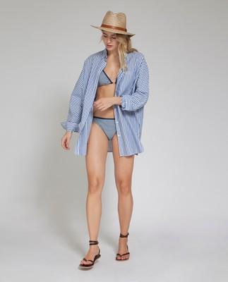 Stephanie Bikini Top, Blue/White