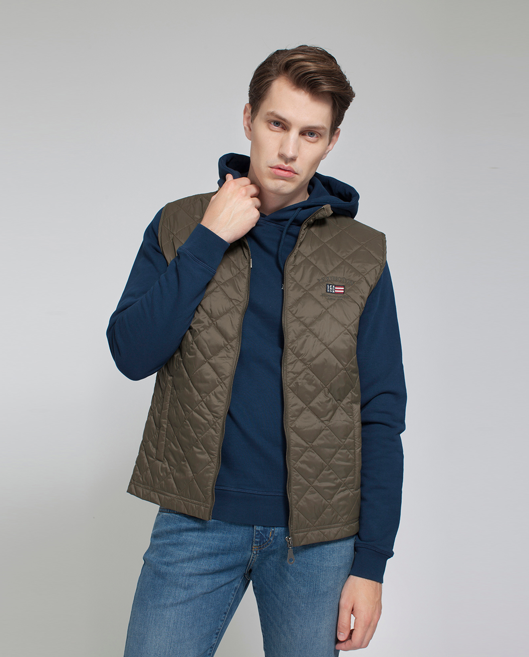 j quilted in vest getaway green product lyst crew excursion quilt gallery clothing jcrew