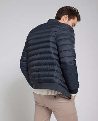 Aiden Bomber Down Jacket, Deep Marine Blue