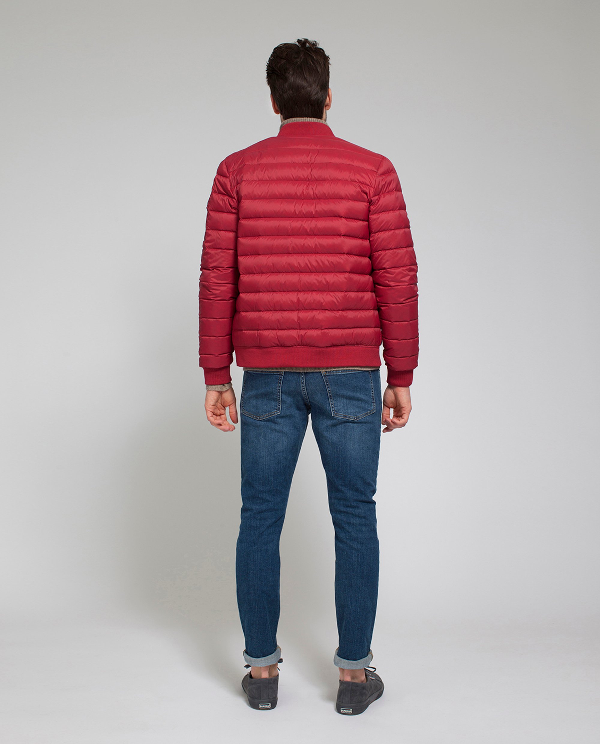 Aiden Bomber Down Jacket, Rio Red