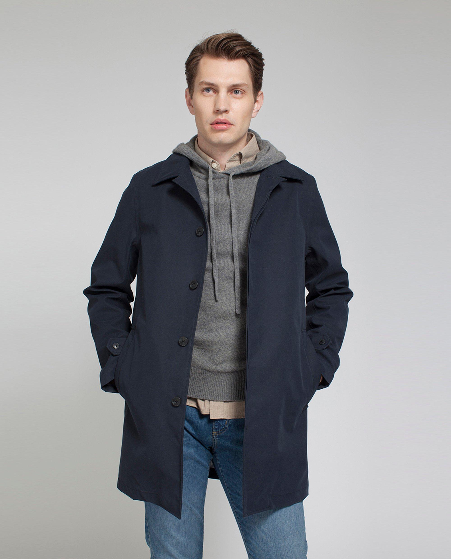 Pierce Overcoat, Deep Marine Blue