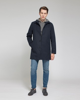 Pierce Overcoat, Deep Marine Blue