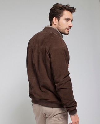 Richard Suede Jacket, Dark Brown