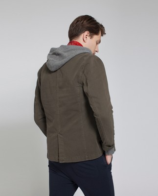 John Traveller Twill Jacket, Olive Night