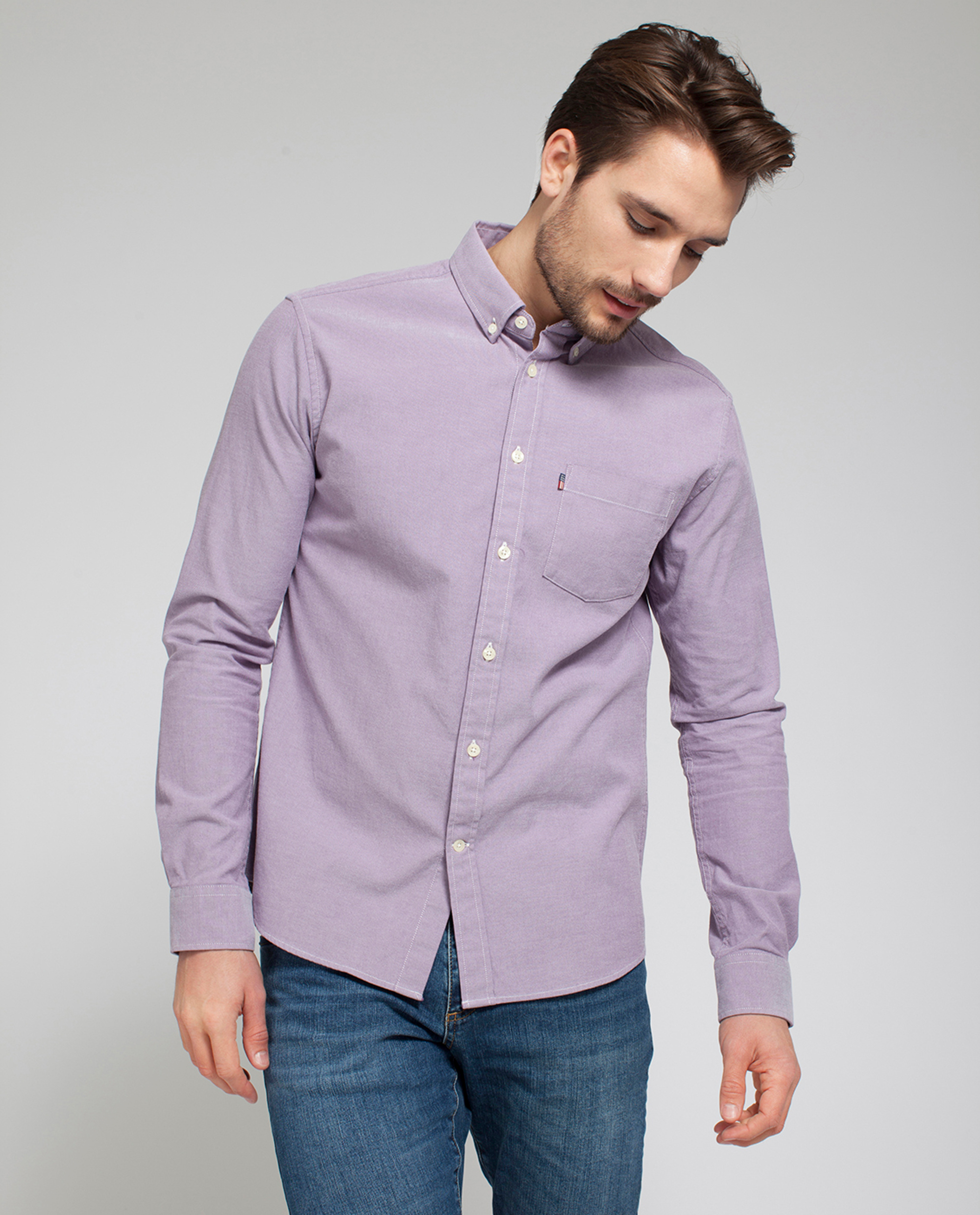 Kyle Oxford Shirt, Grape Jam