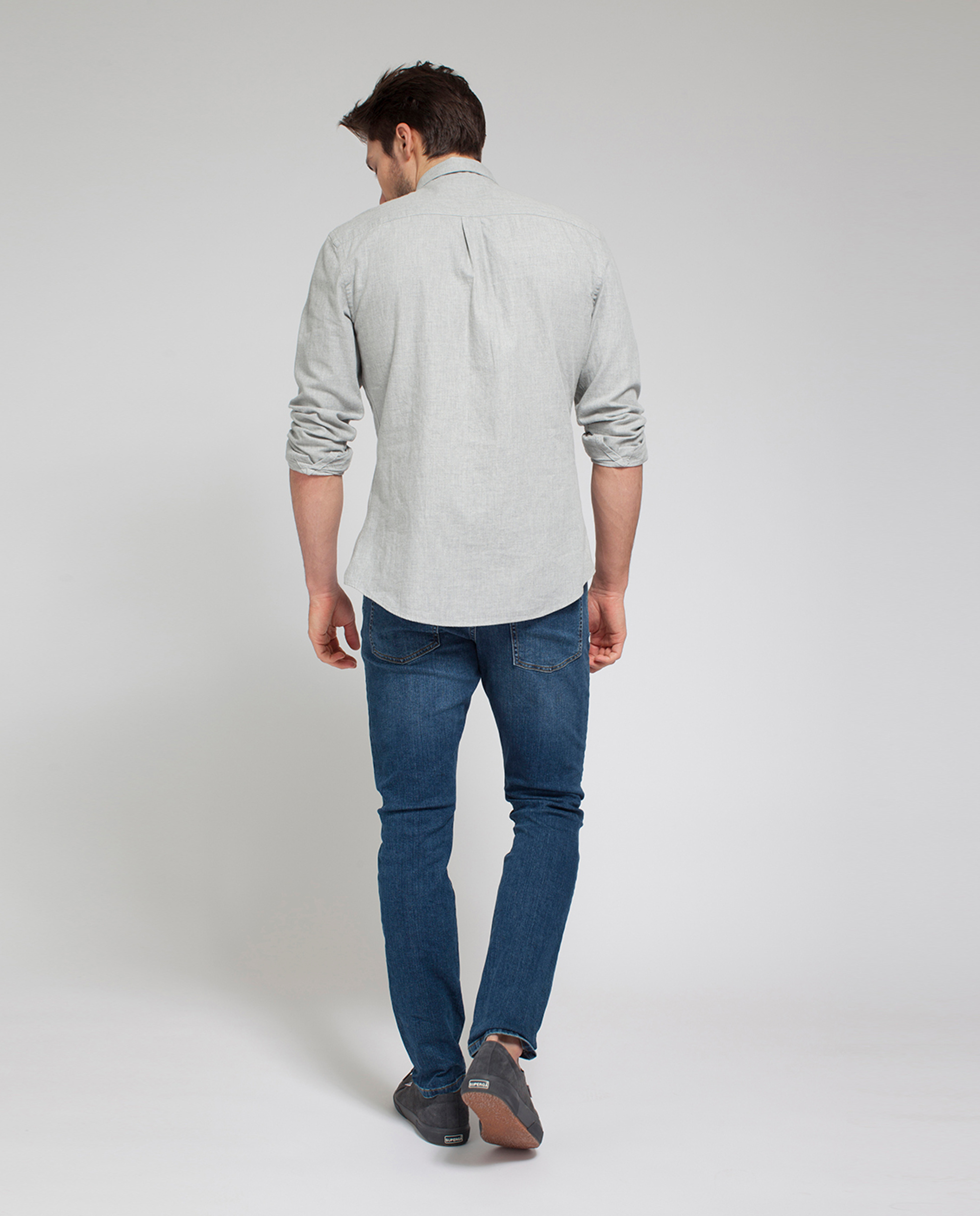 Peter Light Flannel Shirt, Light Warm Gray