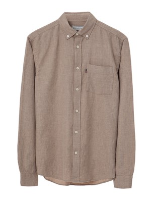 Peter Light Flannel Shirt, Beige