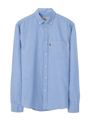 Peter Light Flannel Shirt, Light Blue