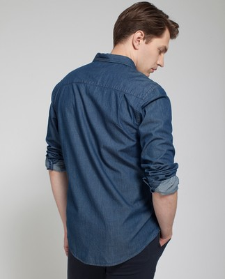 Taylor Indigo Shirt, Dark Blue Denim