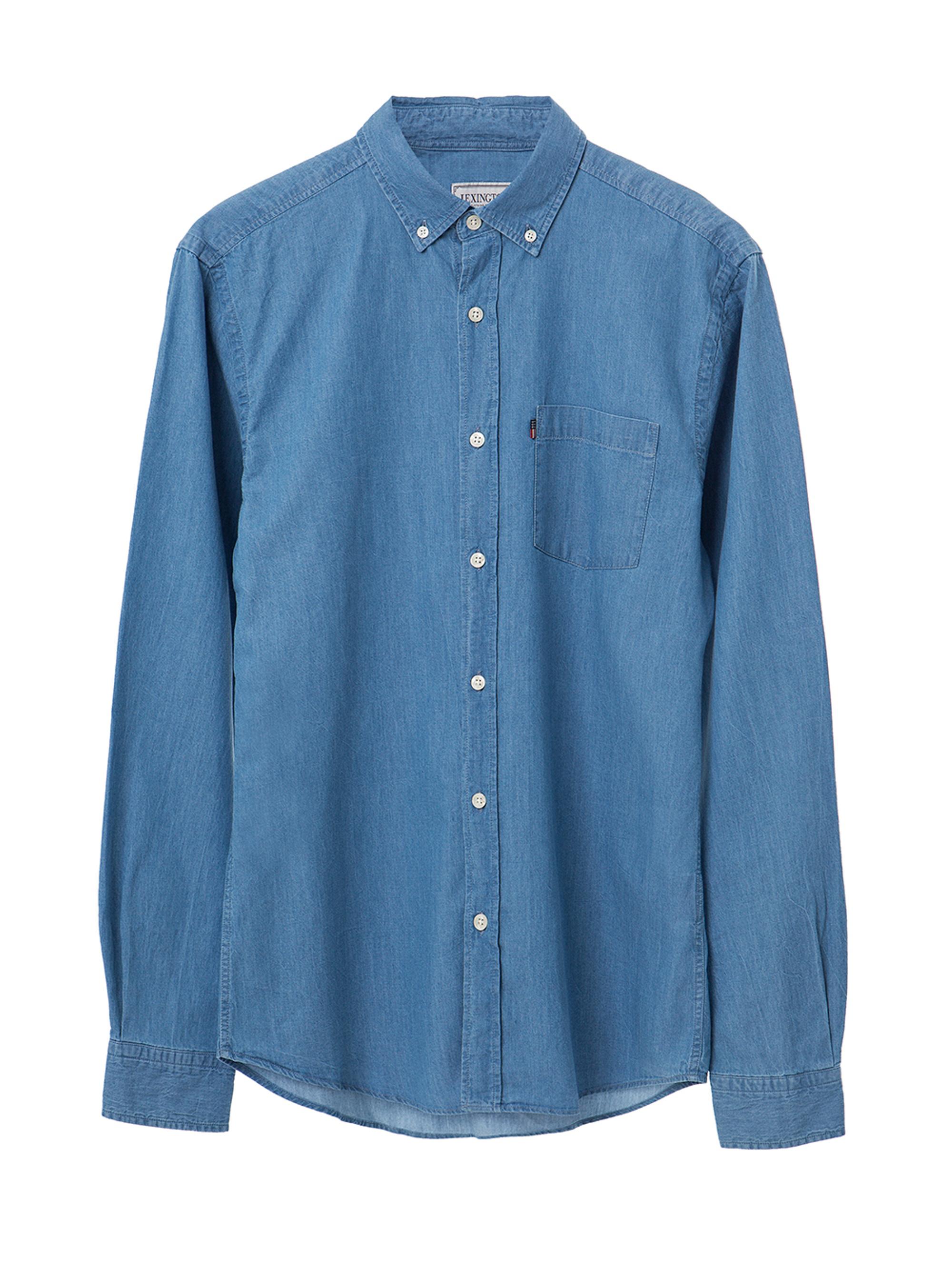 Taylor Indigo Shirt, Light Blue Denim