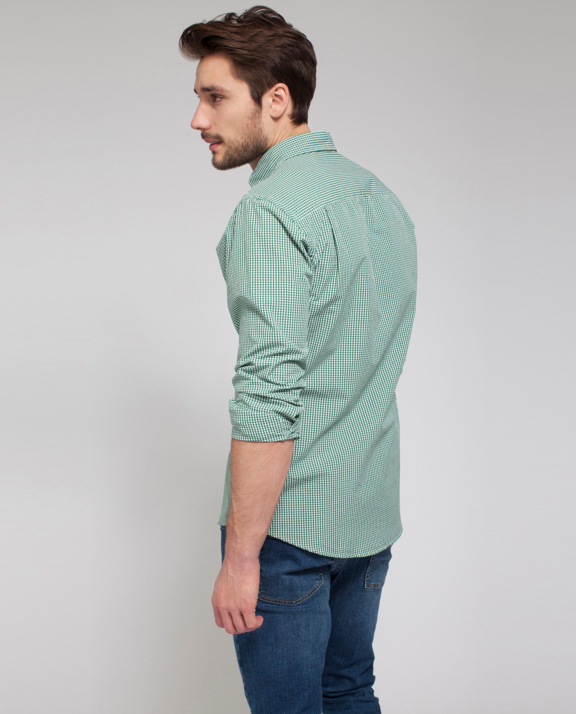 Taylor Poplin Shirt, Green/White