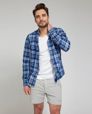 Jones Checked Shirt, Blue multi