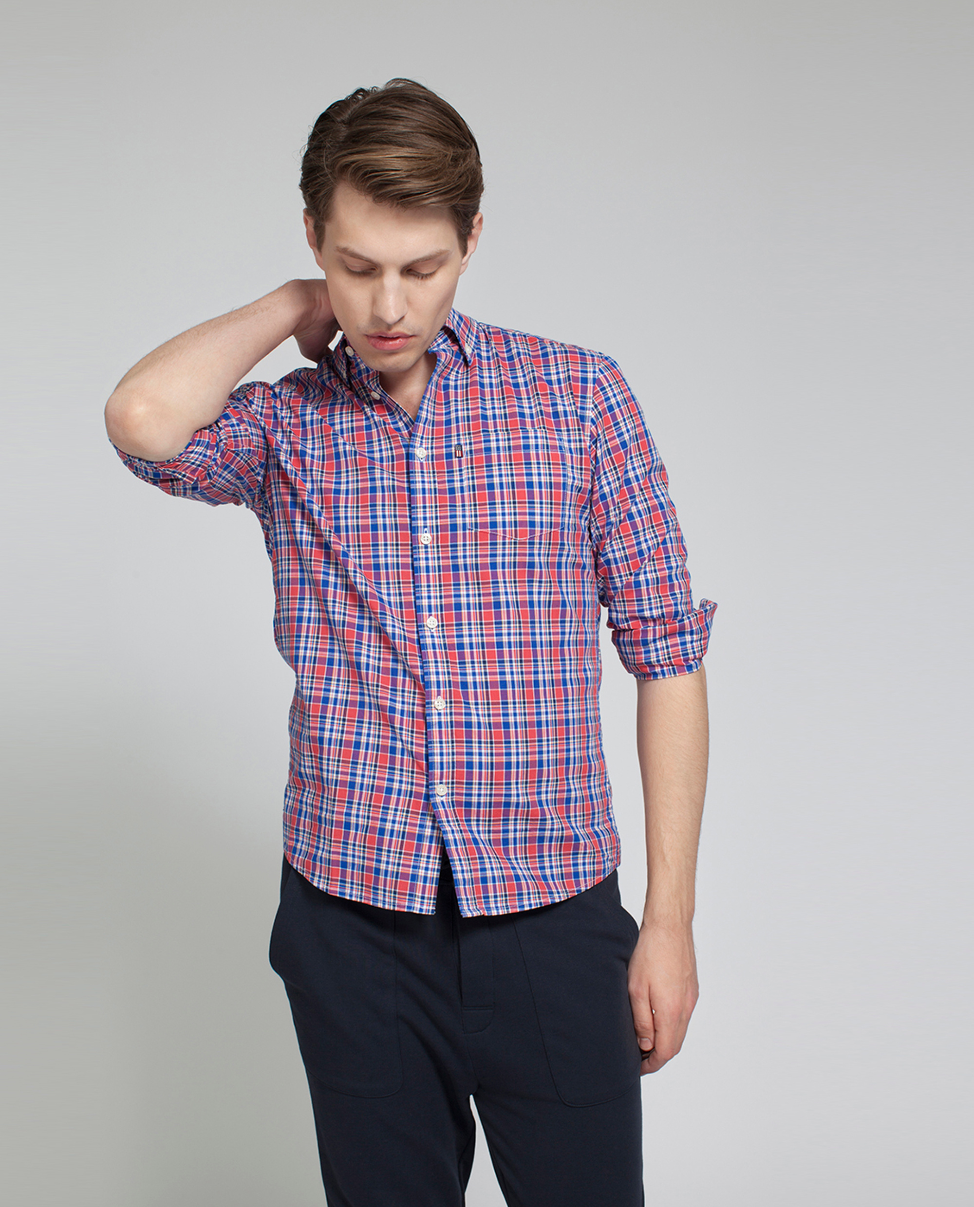 Jones Checked Shirt, Red Multi