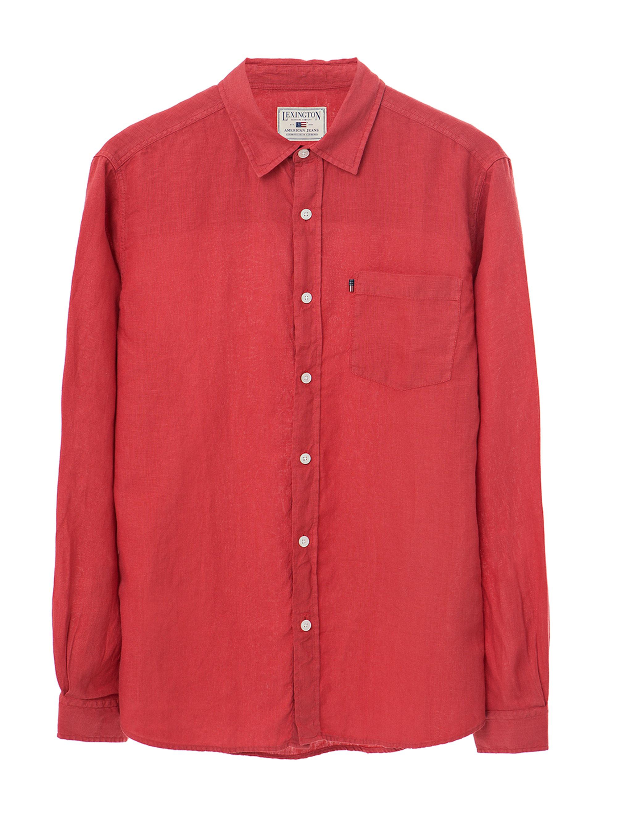 Ryan Linen Shirt, Pompeian Red
