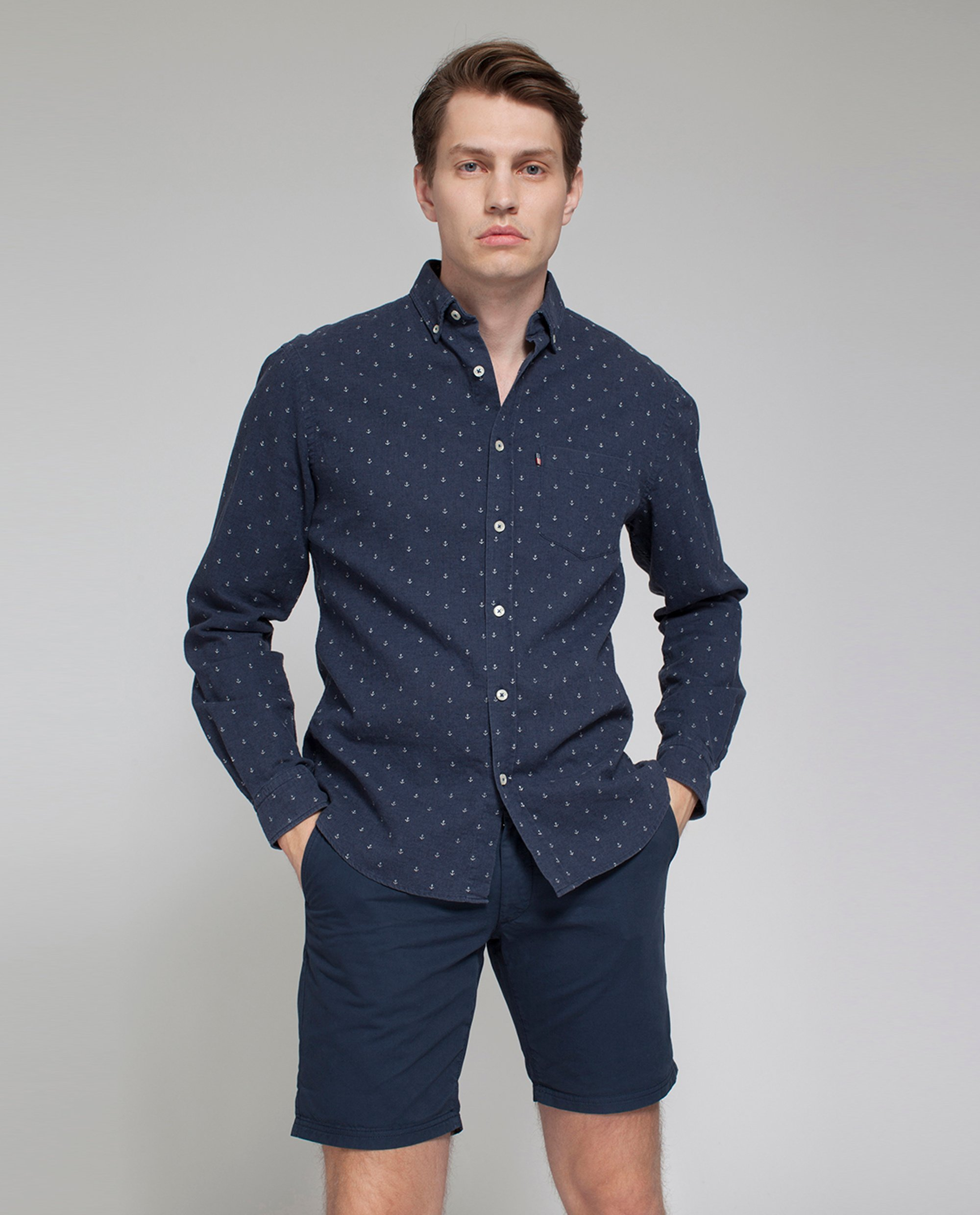 Taylor Anchor Shirt, Anchor Print