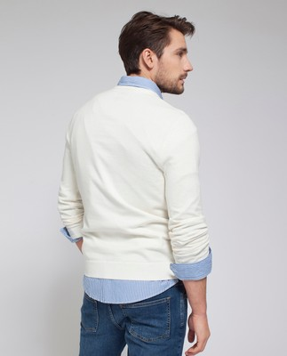 Nicholas V-Neck Sweater, Bone White