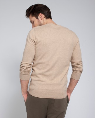 Nicholas V-Neck Sweater, Warm Sand