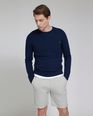 Jeff Crewneck Sweater, Deepest Blue