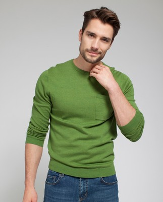 Jeff Crewneck Sweater, Piquant Green