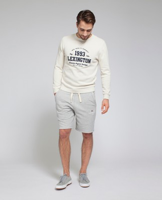 Nelson Knitted Sweatshirt, Shell White