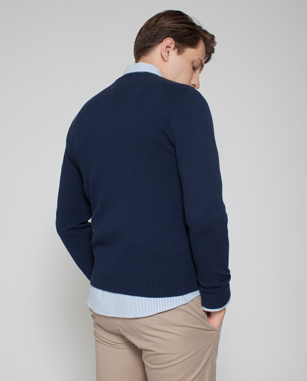 Nelson Knitted Sweatshirt, Deepest Blue