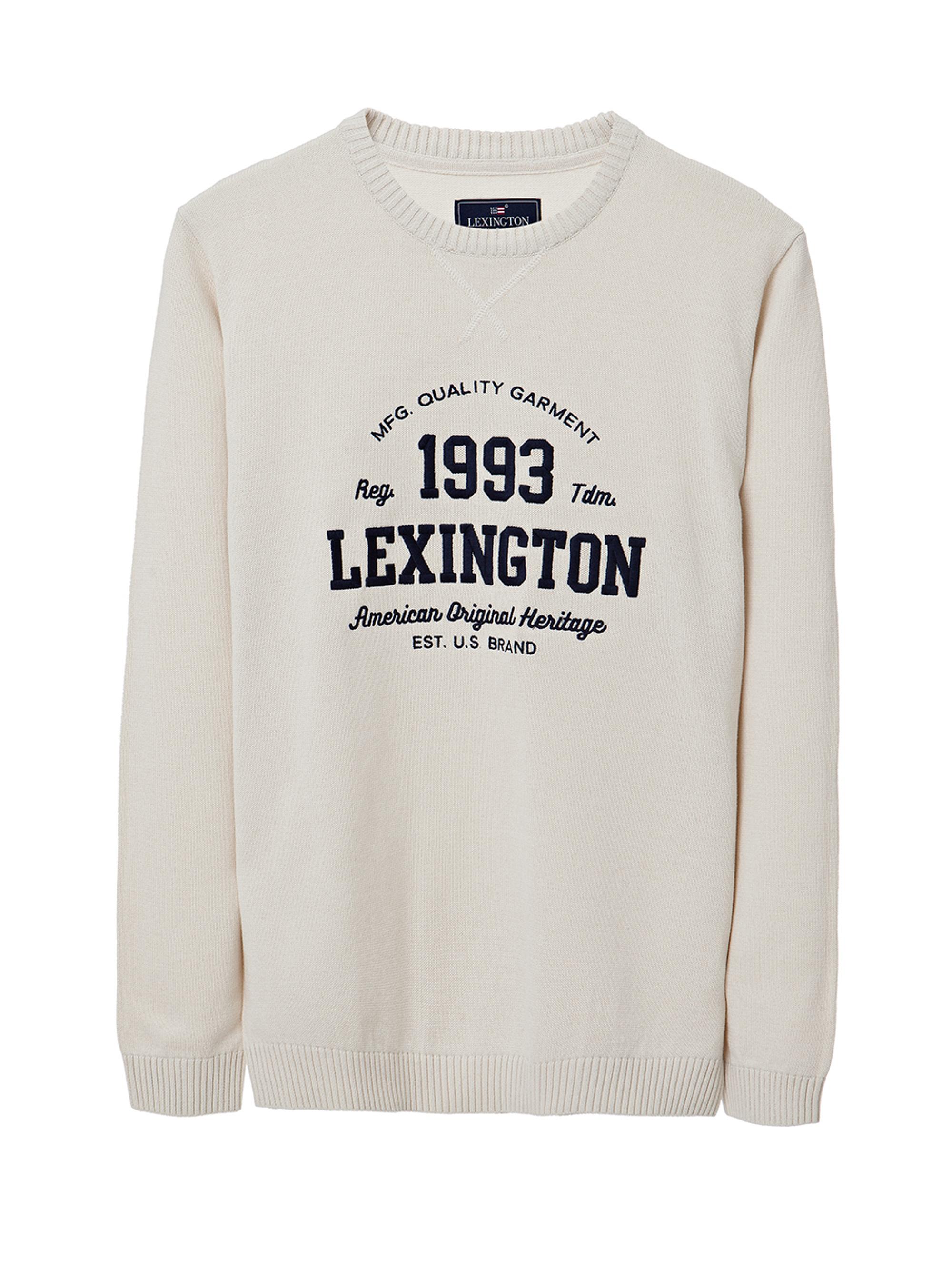 Nelson Knitted Sweatshirt, Shell White