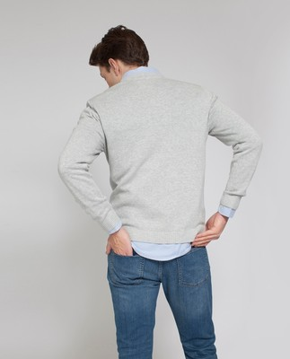 Nelson Knitted Sweatshirt, Light Warm Gray