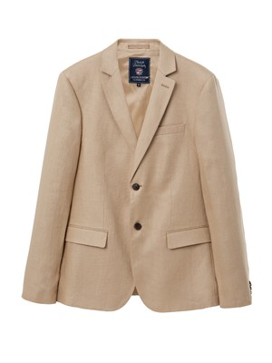 Jason Linen Jacket, Warm Sand