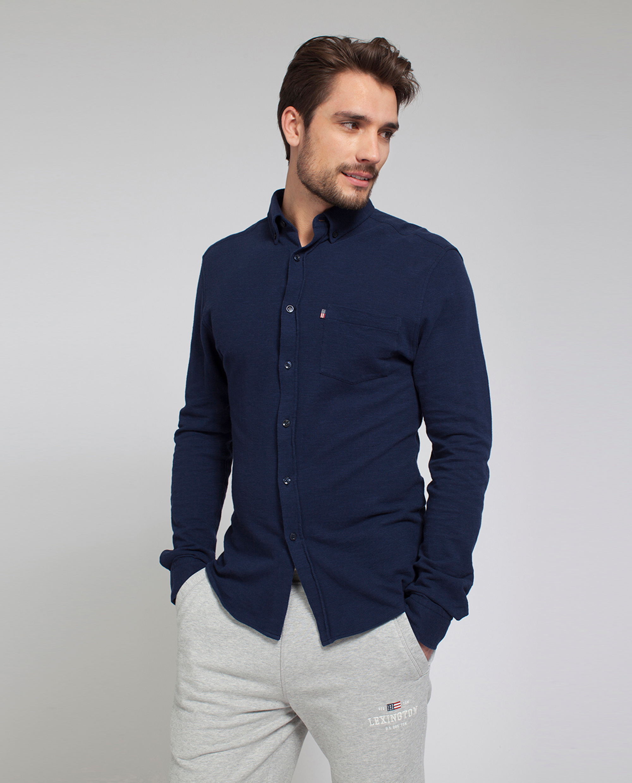 Irvin Pique Shirt, Deepest Blue