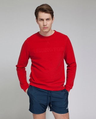 Shane Pique Sweatshirt, Pompeian Red- Coming soon!