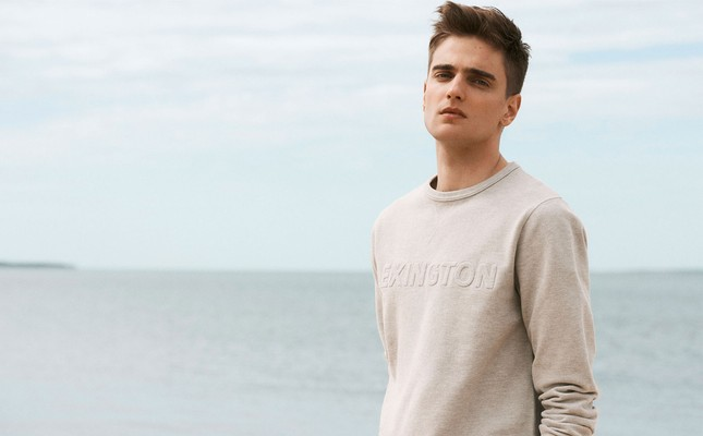 Shane Pique Sweatshirt, Light Gray